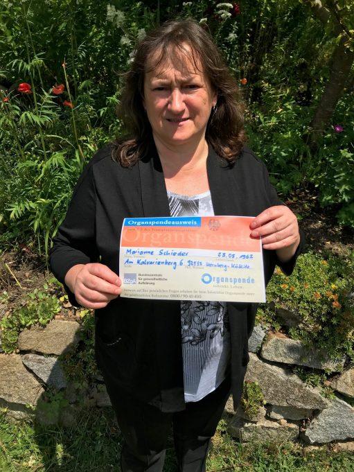 MdB Marianne Schieder ist laut ihrem Spenderausweis Organspenderin.
