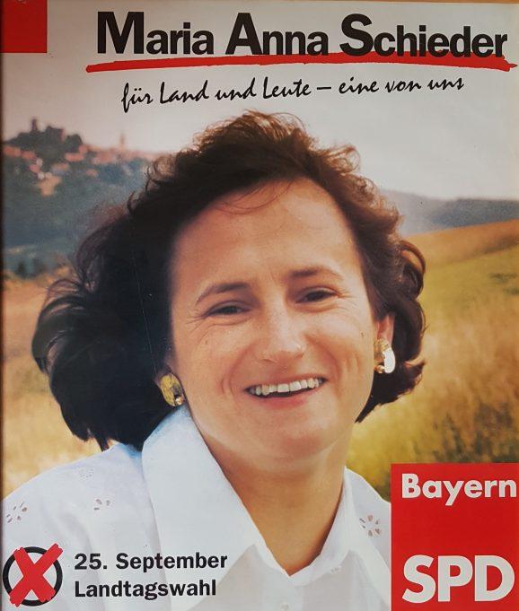 Wahlplakat für die Landtagswahl 1994