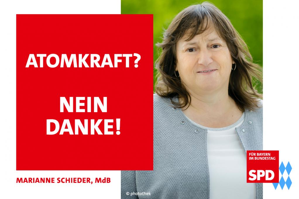 MdB Marianne Schieder spricht sich gegen Atomkraft aus